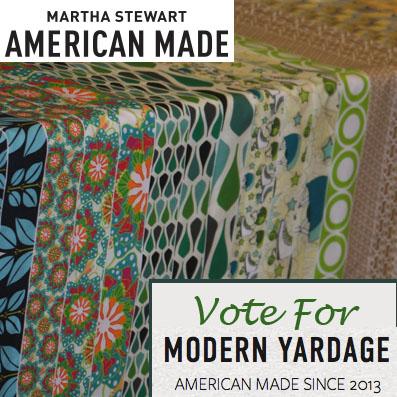 Modern Yardage in Martha Stewarts AmericanMade contest