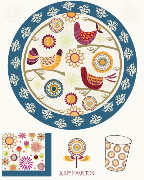 Julie Hamilton Designs-folkart for party paper market