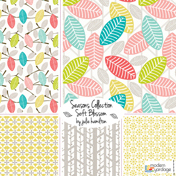 Seasons Collection for Modern Yardage Fabric by Julie Hamilton Designs