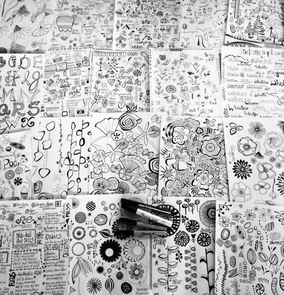 Julie Hamilton Designs ~ Doodle Journal Pages {artistically afflicted blog}