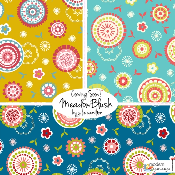 MeadowBlush Collection - Julie Hamilton Designs for Modern Yardage