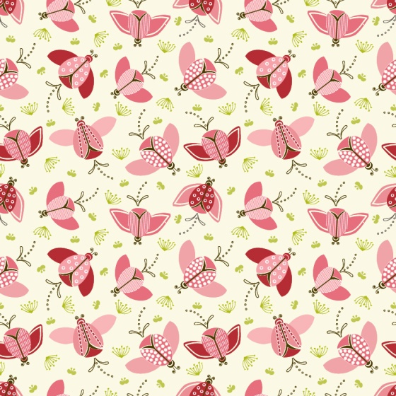 MeadowBlush collection - Julie Hamilton Designs for Modern Yardage Fabric