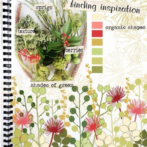 Floral -  Julie Hamilton designs {artistically afflicted blog}
