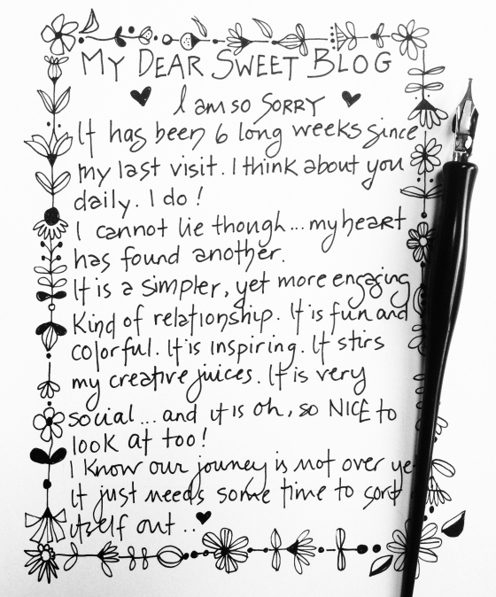 Blog break up letter {artistically afflicted blog}