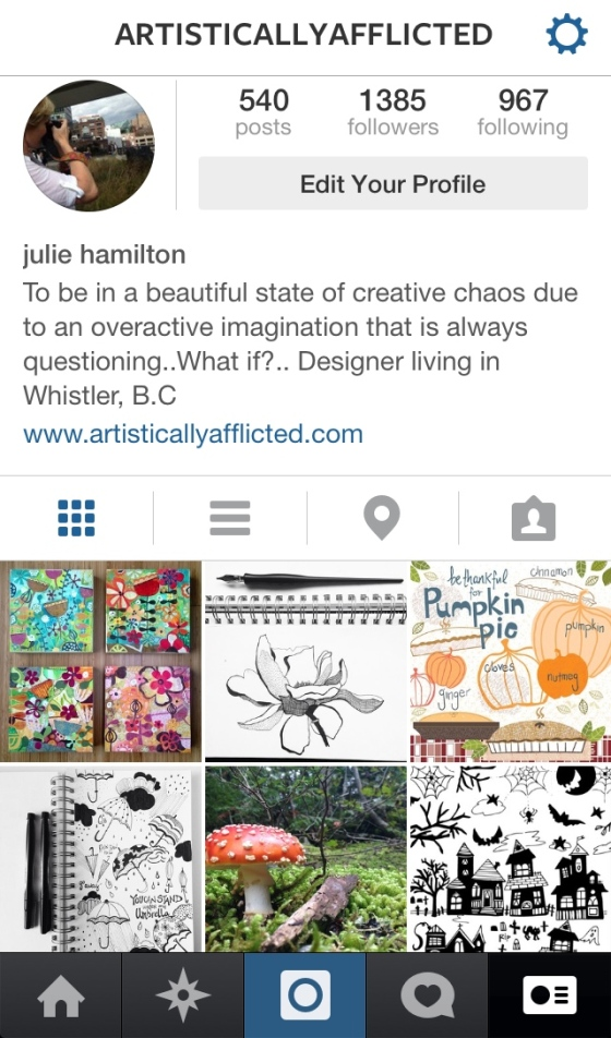 Instagram ~ julie hamilton designs on {artistically afflicted blog}