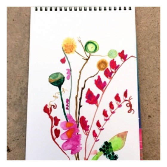 Michelle Osorio WaterColour on the {artistically afflicted blog}