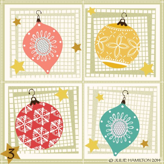 Christmas, Illustration, vintage ornaments