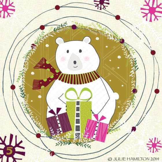 Christmas, Illustration. polar bear,