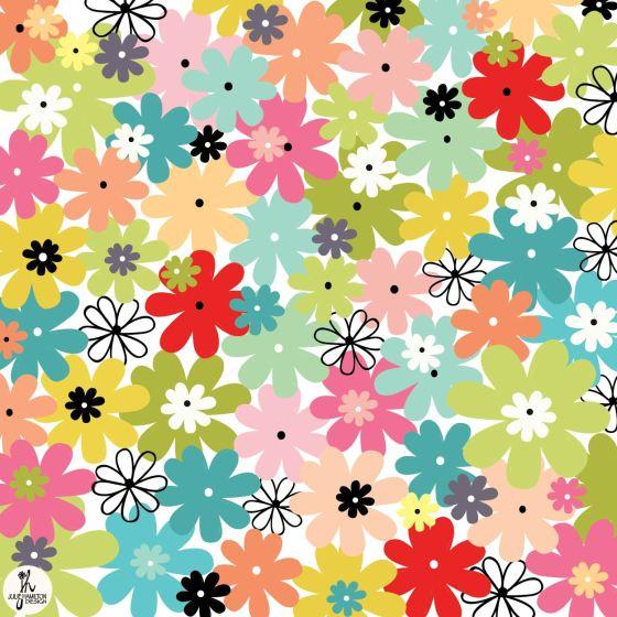 flowers, doodle, illustration, pastels