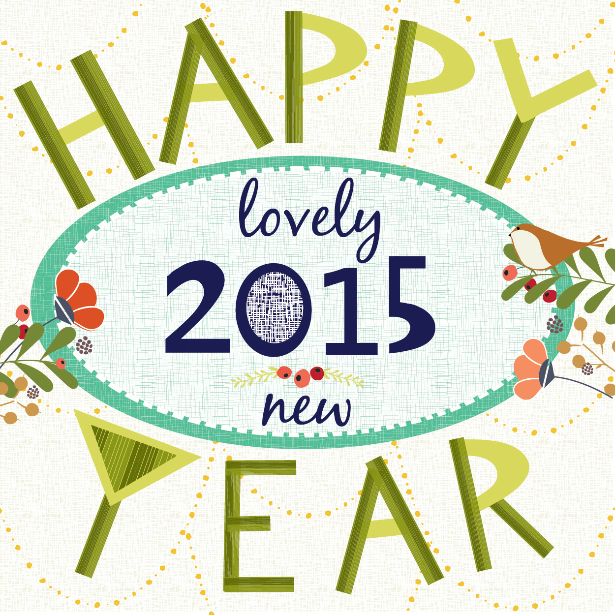 Happy New Year Illustration and Greeting