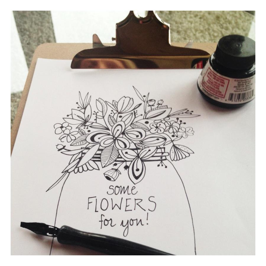Daily sketch - flower vase