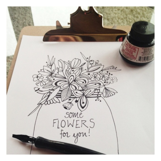Daily sketch - flower vase