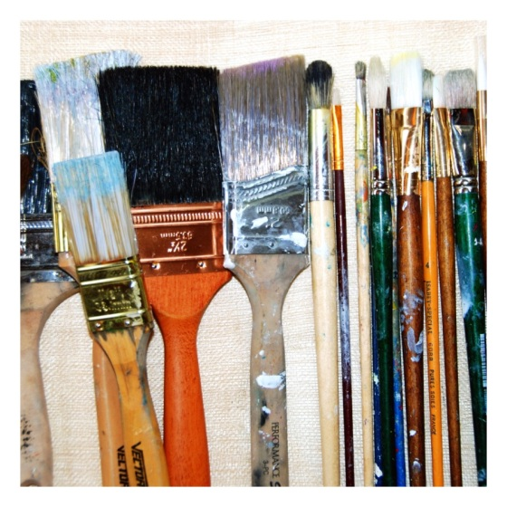 Lined up and ready to go! Mixing colours  ~ Julie Hamilton Designs {artistically afflicted blog}