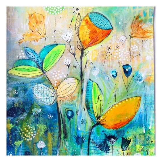 intuitive painting, Bloom true, floral painting