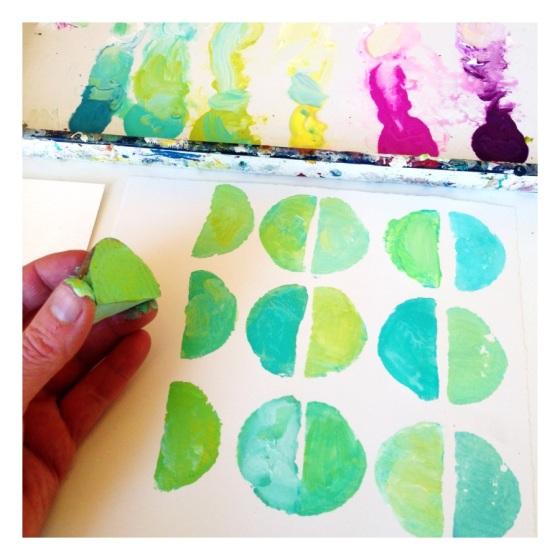 paint, stamping, design sponge