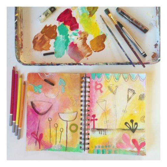 art journal, work in progress, sketchbook