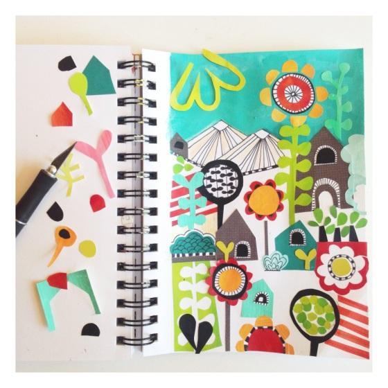 Art Journal time - Julie Hamilton Designs {artistically afflicted blog}