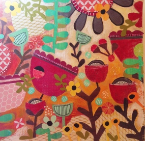 Tangled Weave Series (collage,mixed media) - Julie Hamilton Designs {artistically afflicted blog}