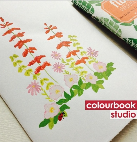 Artist/Designer Colourbook Studio - {artistically afflicted blog} #shareyoursketch