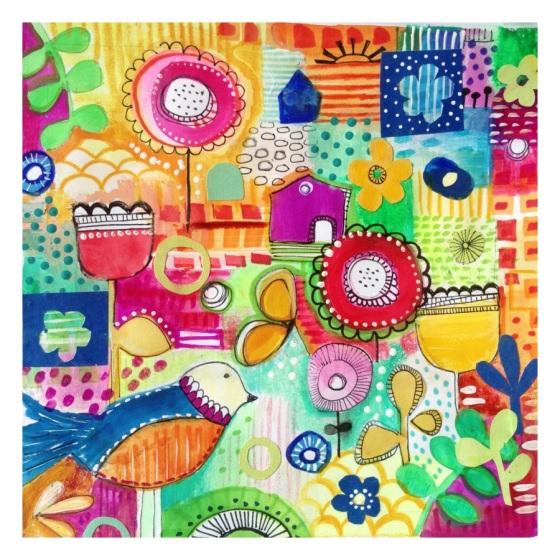 Art Journal Page - always a work in progress - {artistically afflicted blog} Julie Hamilton