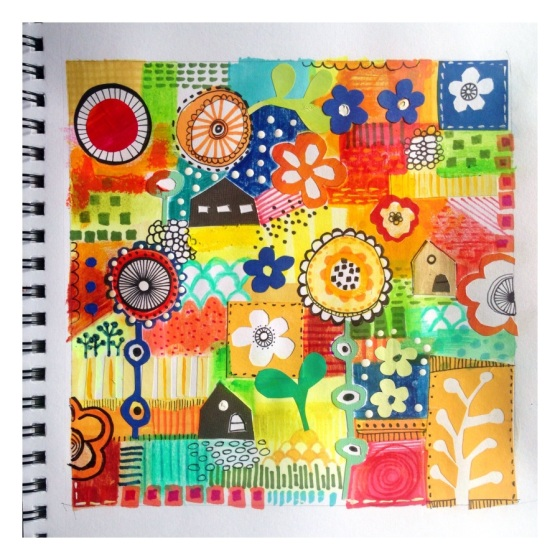 Art Journal Page - always a  work in progress - {artistically afflicted blog}  Julie Hamilton