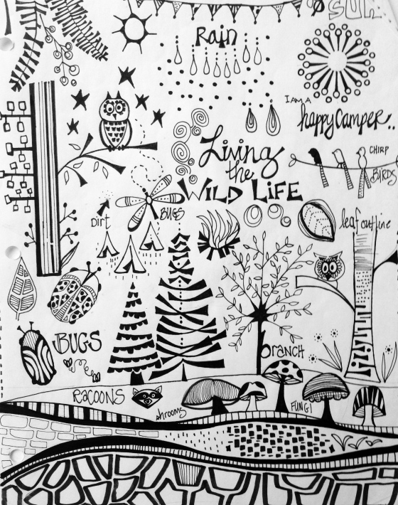 Julie Hamilton Designs {artistically afflicted blog} -journal pages in A World of Art Journal Pages, curated by Dawn DeVries Sokol