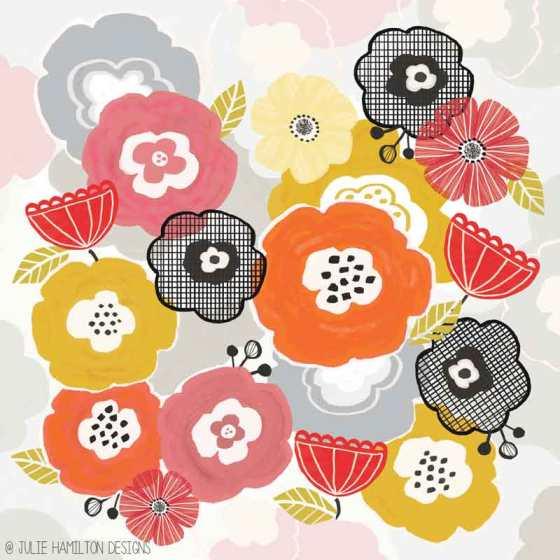 Cut & Paste Garden by Julie Hamilton Designs {artistically afflicted blog}