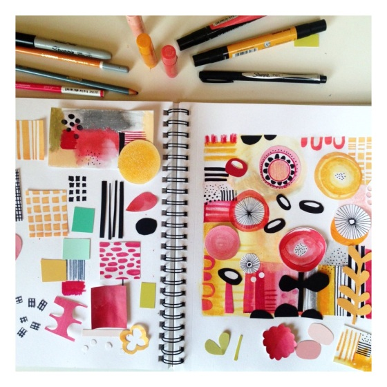 Color me creative - a color palette {artistically afflicted blog} Julie Hamilton Designs