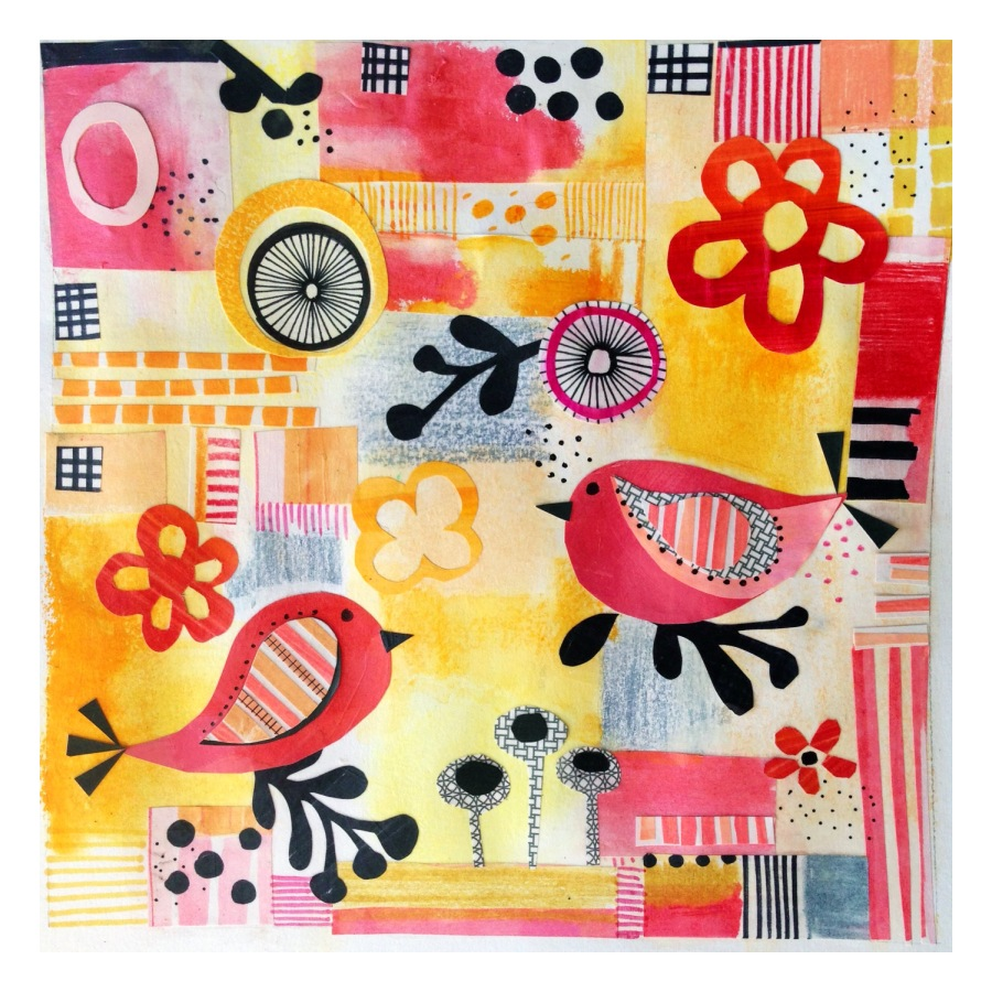 mixed media collage - Julie Hamilton Designs {artistically afflicted blog}