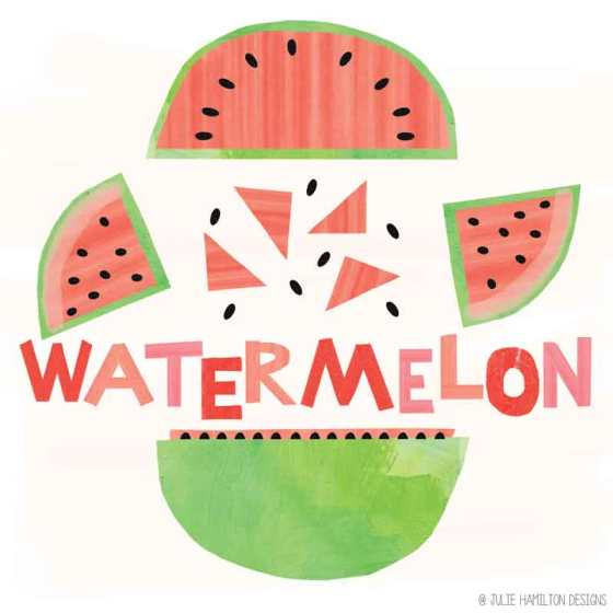 Watermelons - Julie Hamilton Designs {artistically afflicted blog}