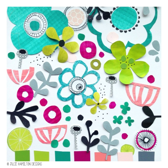 Colour me creative moodboard - Julie Hamilton Designs {artistically afflicted blog}
