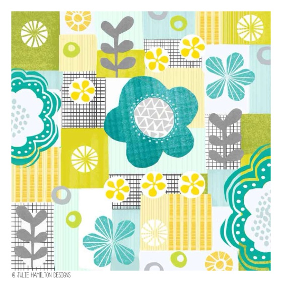 Summertime Blues - Julie Hamilton Designs {artistically afflicted blog}