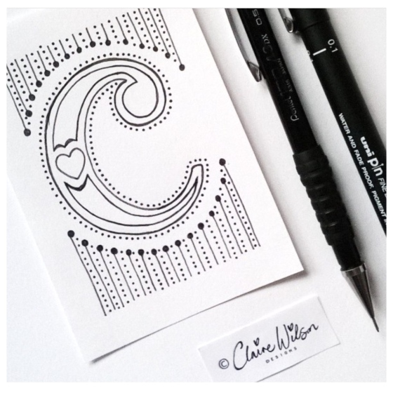 Claire Wilson for #alittleart {artistically afflicted blog}