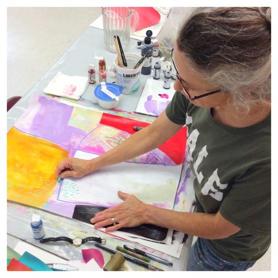 Big Fat Art with Jane Davies - Julie Hamilton Creative {artistically afflicted blog}