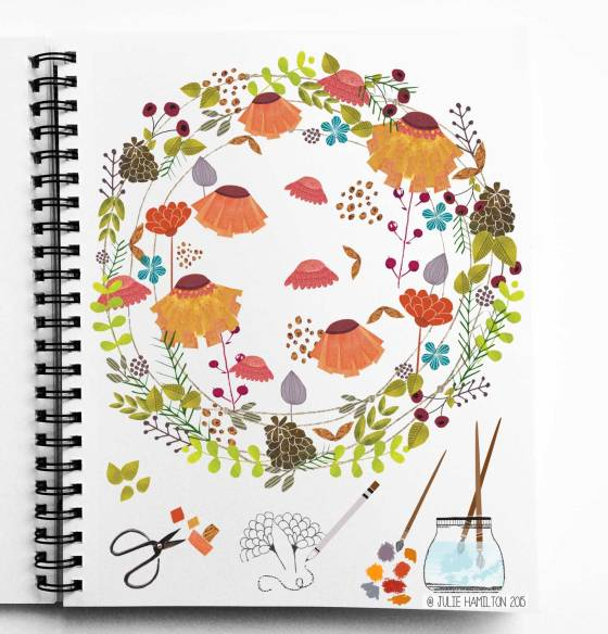 Autumn Sketchbook by Julie Hamilton Creative {artistically afflicted blog}