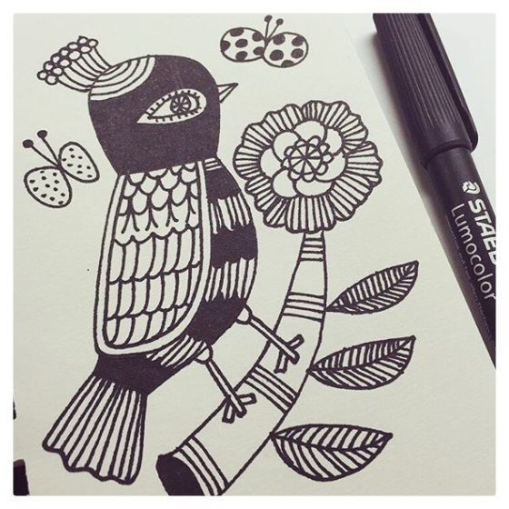 Flora Chang for #inktober {artistically afflicted blog}