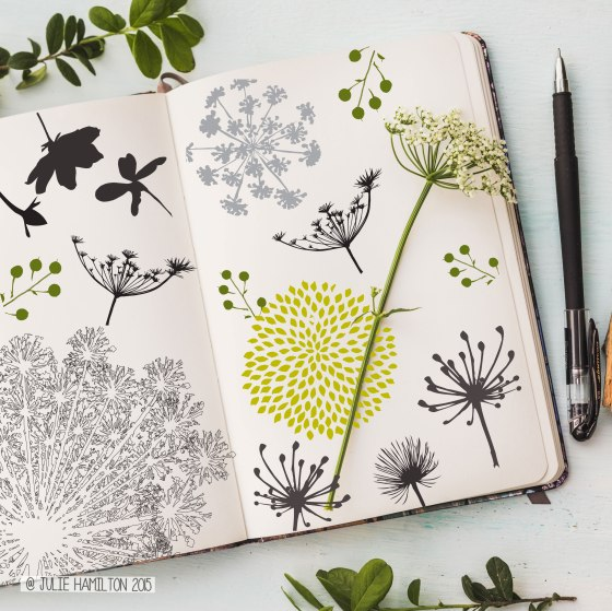 Sketchbook Wildflowers by Julie Hamilton Creative {artistically afflicted blog}