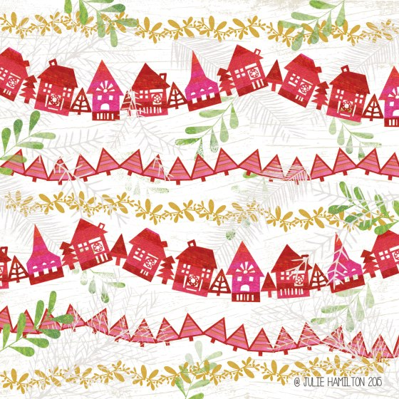 Christmas Bunting by Julie Hamilton Creative {artistically afflicted blog}