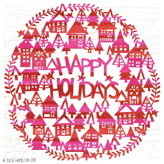 Happy Holidays by Julie Hamilton Creative {artistically afflicted blog}
