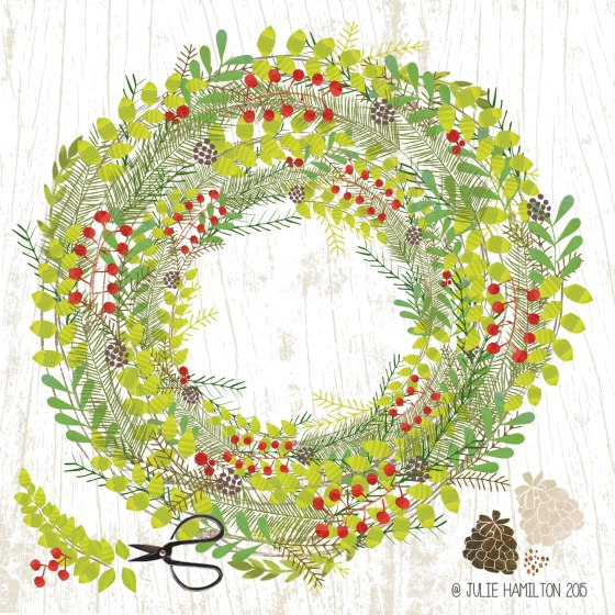 Christmas Wreath by Julie Hamilton Creative {artistically afflicted blog}