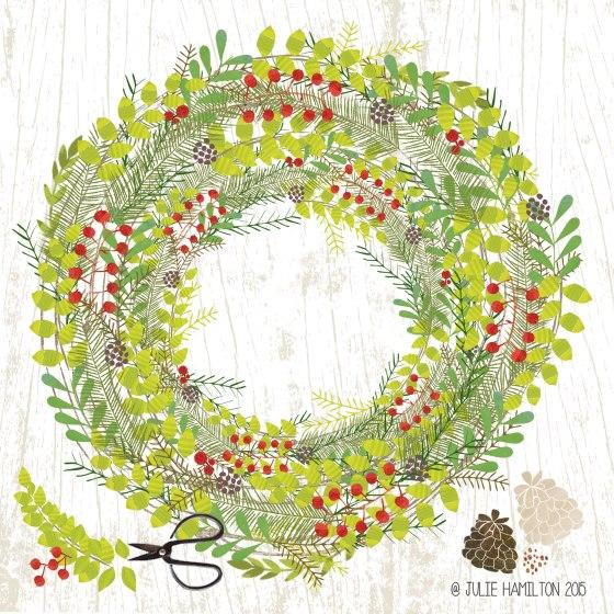 Christmas Wreath by Julie Hamilton Creative {artistically afflicted blog}