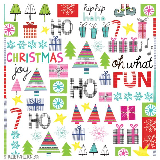 Illustrated Christmas - Julie Hamilton Creative {artistically afflicted blog}