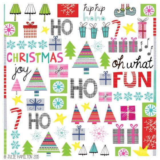 Illustrated Christmas - Julie Hamilton Creative {artistically afflicted blog}