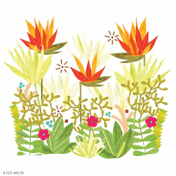 Tropical papercut art - Julie Hamilton Creative {artistically afflicted blog}