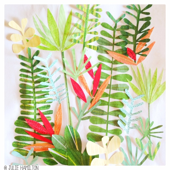Tropical papercut goodness in the sketchbook - Julie Hamilton Creative {artistically afflicted blog}