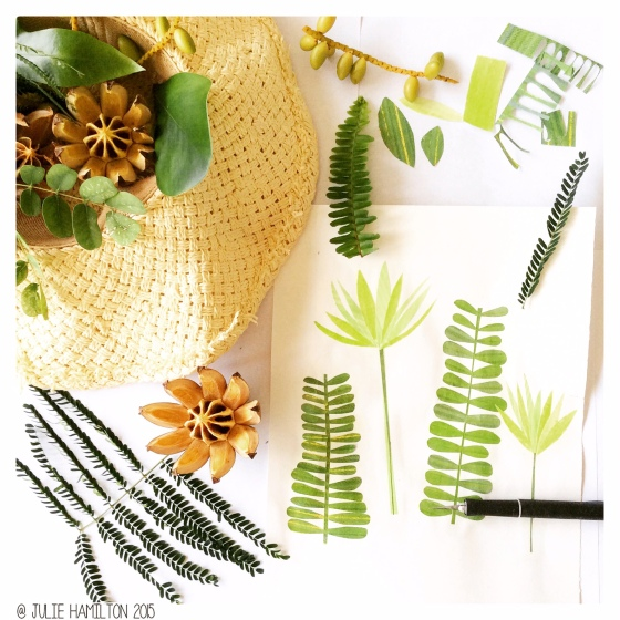 Tropical goodness in the sketchbook - Julie Hamilton Creative {artistically afflicted blog}