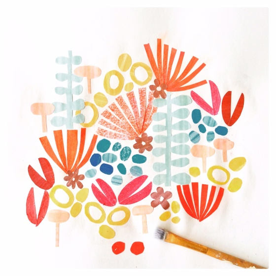 Tropical papercuts in the sketchbook - Julie Hamilton Creative {artistically afflicted blog}